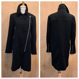 ZARA zip front blank coat